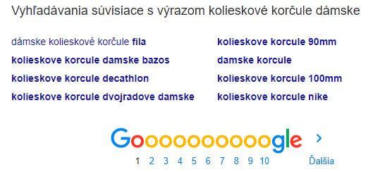 Screenshot vyhľadávania súvisiace s výrazom