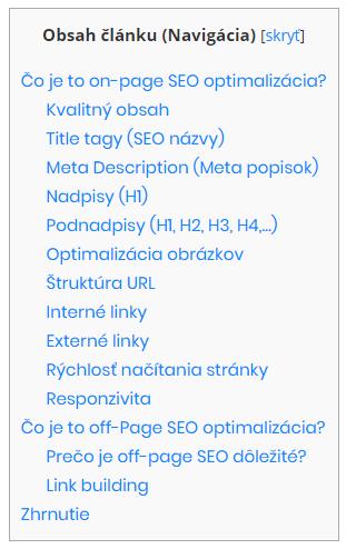 Podnadpisy (H2, H3, H4,...) - prvky on-page SEO optimalizácie